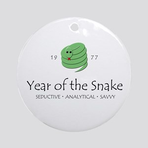 """Year of the Snake"" [1977] Ornament (Round)"